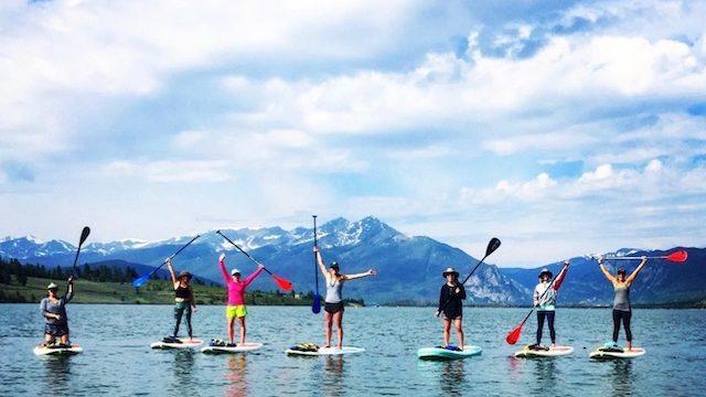 paddle board lake dillon
